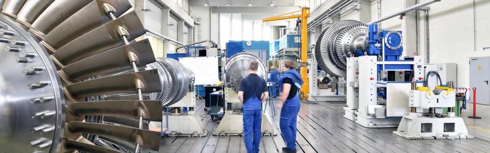 Blick in eine Produktionshalle